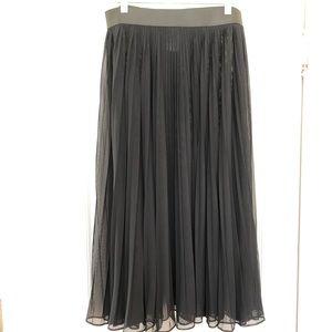 Sheer black high waist long skirt